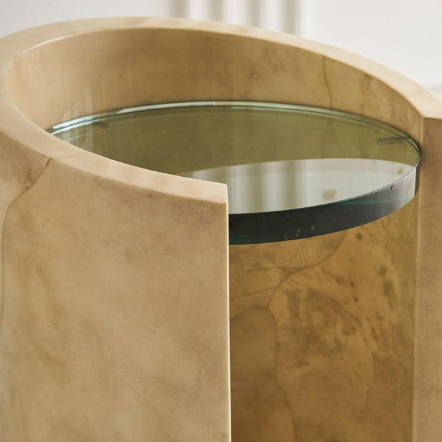 1970s 1970s Lacquered Parchment Side Table by Ron Seff For Sale - Image 5 of 8