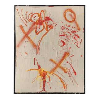 """""""Drunken Graffiti"""" Abstract Mixed-Media Painting For Sale"""