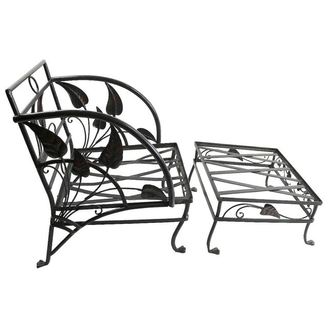 Banana Leaf Lounge Chair and Ottoman by Salterini For Sale - Image 13 of 13