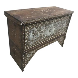 Eclectic Antique Inlaid Trunk For Sale