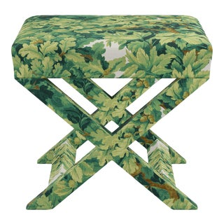 X Bench In Verdure Bois De Chene By Old World Weavers For Sale
