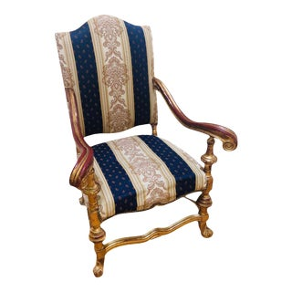 Antique Gold Gilt Large Chair For Sale