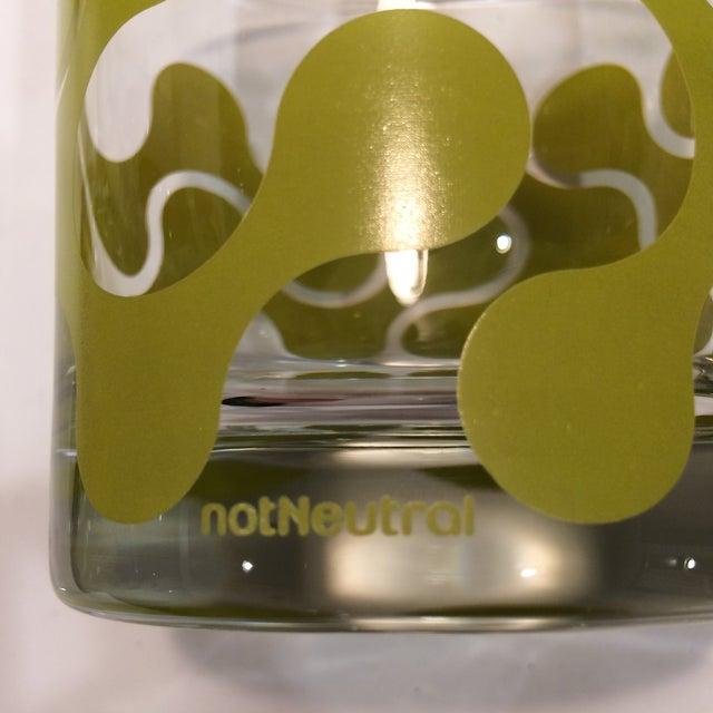 Op Art Avocado Green Lo-Ball Glasses - Set of 4 - Image 6 of 11