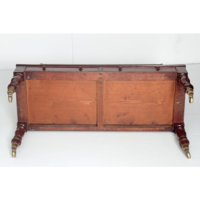 Pair of English Regency Dwarf Waterfall Bookcases For Sale - Image 10 of 10