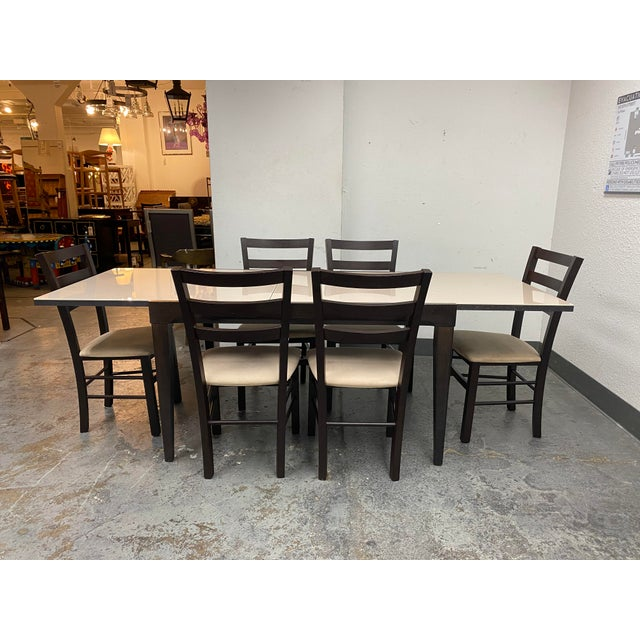 Calligaris Extendable Dining Table + Six Chairs Set For Sale - Image 13 of 13