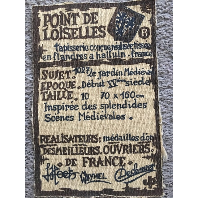 Vintage Point De Loiselles French Wall Tapestry - Image 3 of 7