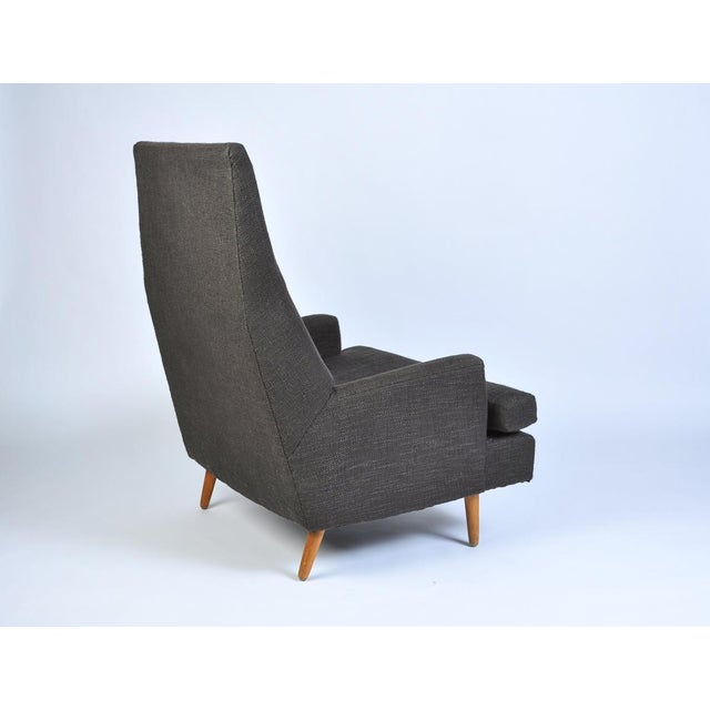 Adrian Pearsall high back lounge chair - a vintage original up-cycled with new fabric and cushion. Perfect as a strong...