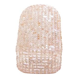 Glass Sconce or Wall Light in Crystal Design by Glashütte Limburg For Sale
