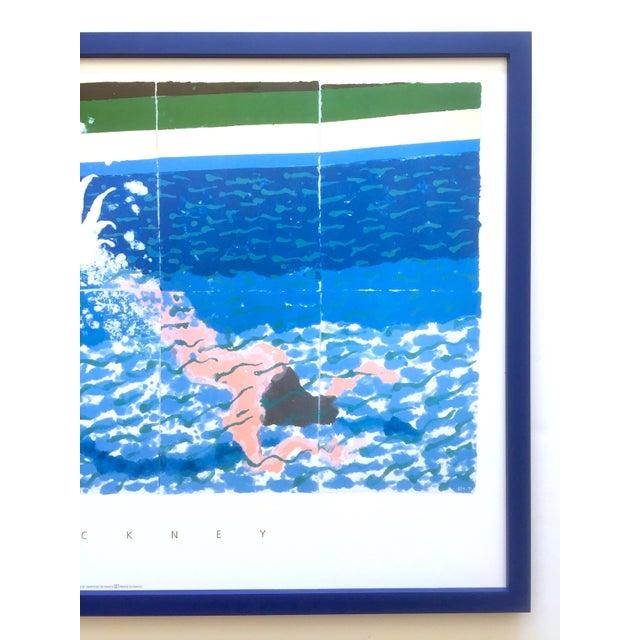 """David Hockney David Hockney Rare Vintage 1994 Iconic Lithograph Print Large Framed Poster """" Le Plongeur ( Paper Pool 18 ) """" 1978 For Sale - Image 4 of 13"""