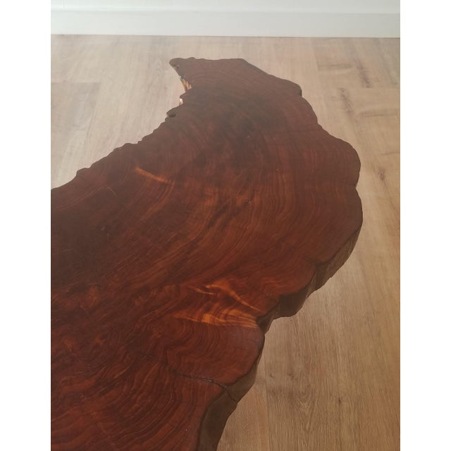 1960s Mid-Century Modern Live Edge Half Moon Side Table For Sale - Image 9 of 10