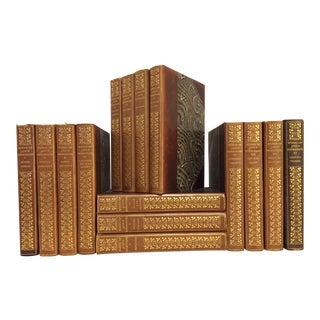 Early 20th Century The Writings of John Burroughs Decorative Leather Bound Volumes - 15 Books For Sale