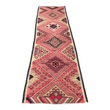 Image of 1960s Vintage Handmade Hallway Kilim Runner- 2′10″ × 11′1″ For Sale