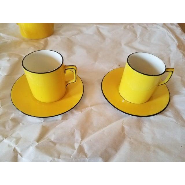 Ceramic Antique Miniature Tea Set for Two - 8 Pieces For Sale - Image 7 of 11