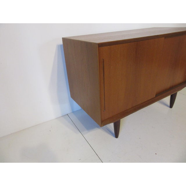 Mid-Century Modern Danish Teak Wood Smaller Credenza For Sale - Image 3 of 8