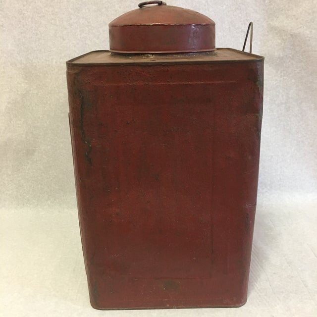 Early 20th Century Antique Tin Container For Sale - Image 5 of 11