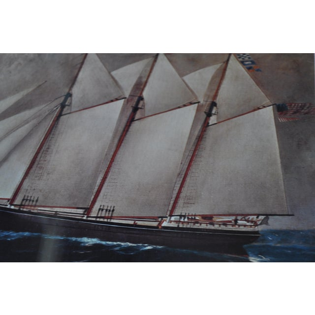 Vintage Nautical Ship Prints in Bamboo Frames - a Pair For Sale - Image 5 of 7