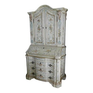 Italian Baroque Style Painted Secretary, 20th Century For Sale