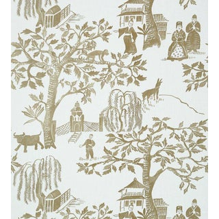Willow Wood Wallpaper by Anna French - Sample For Sale