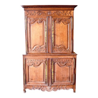 Antique French Oak Double Buffet, Circa 1860 For Sale
