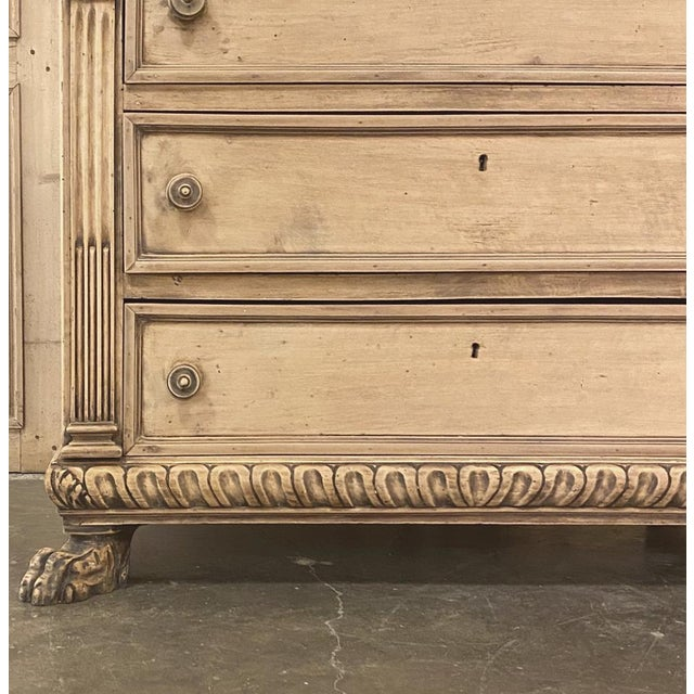 Camel Antique Italian Renaissance Stripped Walnut Commode For Sale - Image 8 of 13