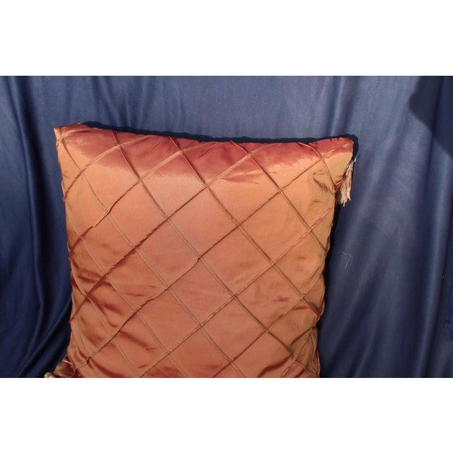 late 20th c. down argyle pattern pillow