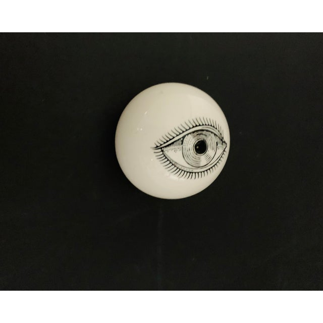 1960s 1960s Piero Fornasetti Surrealist Ceramic Eye Eyeball Paperweight For Sale - Image 5 of 11