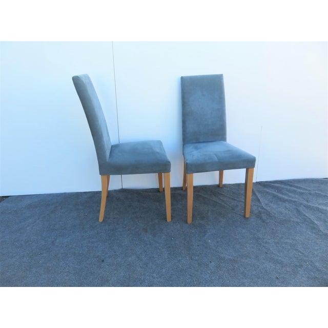 Ligne Roset Modern Design Brushed Leather Dining Chairs