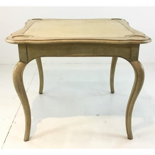 Vintage Ivory Wood and Leather Card Table Preview