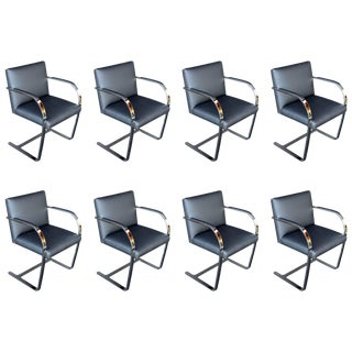 Set of Eight Brno Chairs by Mies Van Der Rohe For Sale
