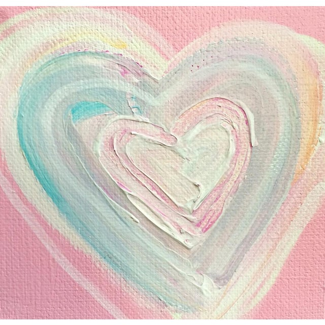 'Cotton Candy Heart' Original Painting by Linnea Heide - Image 1 of 4