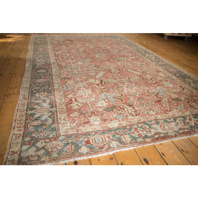 "Vintage Distressed Heriz Carpet - 6'8"" X 9'6"" For Sale In New York - Image 6 of 13"