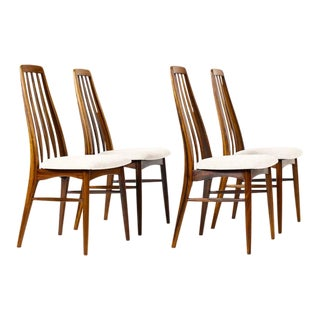 "Danish Modern / Mid-Century ""Eva"" Dining Chairs — Niels Koefoed — Rosewood Frames — Set of 4 For Sale"