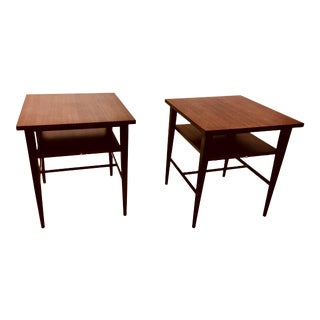 1950s Mid-Century Modern Paul McCobb Mahogany Nightstands - a Pair For Sale