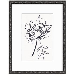2019 Peony Framed Line Drawing by Christine Lindstrom For Sale