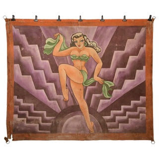 Burlesque Performer Sideshow Banner For Sale