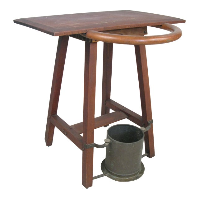 Vintage Rustic 1940s Hall Table Umbrella Stand For Sale