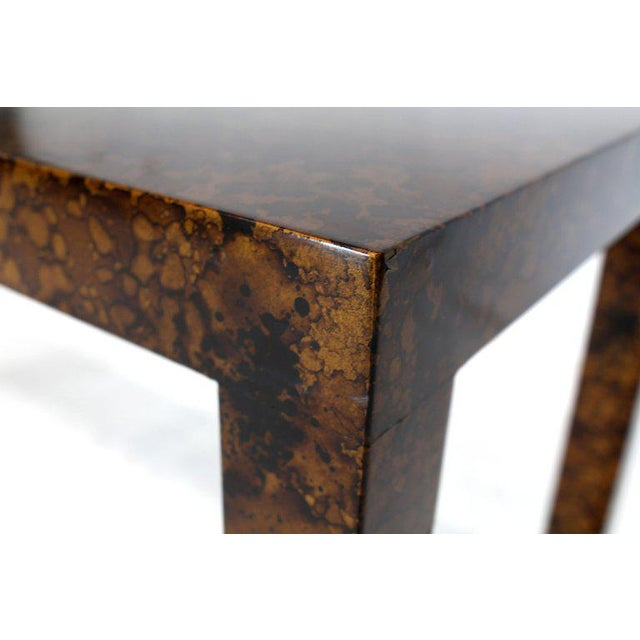 Mid Century Modern Tortoise Lacquer Finish Console Table For Sale In New York - Image 6 of 9