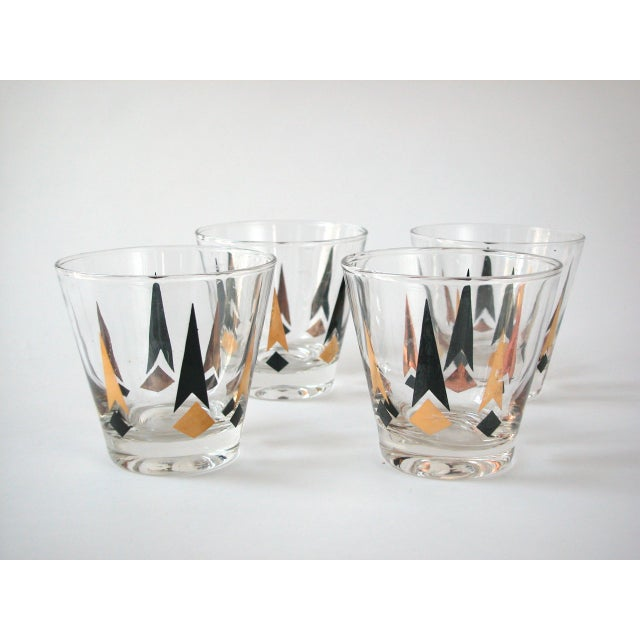 Black & Gold Lowball Glasses - Set of 4 - Image 4 of 8