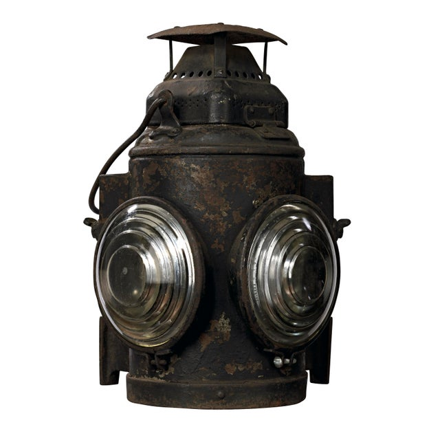 19th Century Industrial Adlake Rare Railroad Switching Light/Lantern For Sale - Image 13 of 13