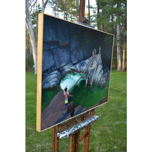 Vermont Swimming Hole Contemporary Painting by Stephen Remick For Sale - Image 9 of 12