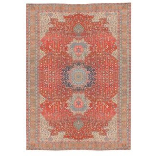 Antique 1880s Handknotted Serapi Rug - 16′ × 22′ For Sale