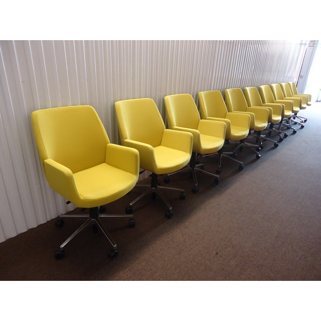 Brian Kane by Coalesse & Steelcase Modern Bindu Yellow Executive Conference Chair For Sale - Image 9 of 13