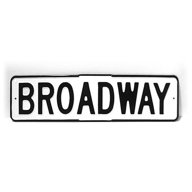 Enamel Broadway Street Sign - Image 2 of 4
