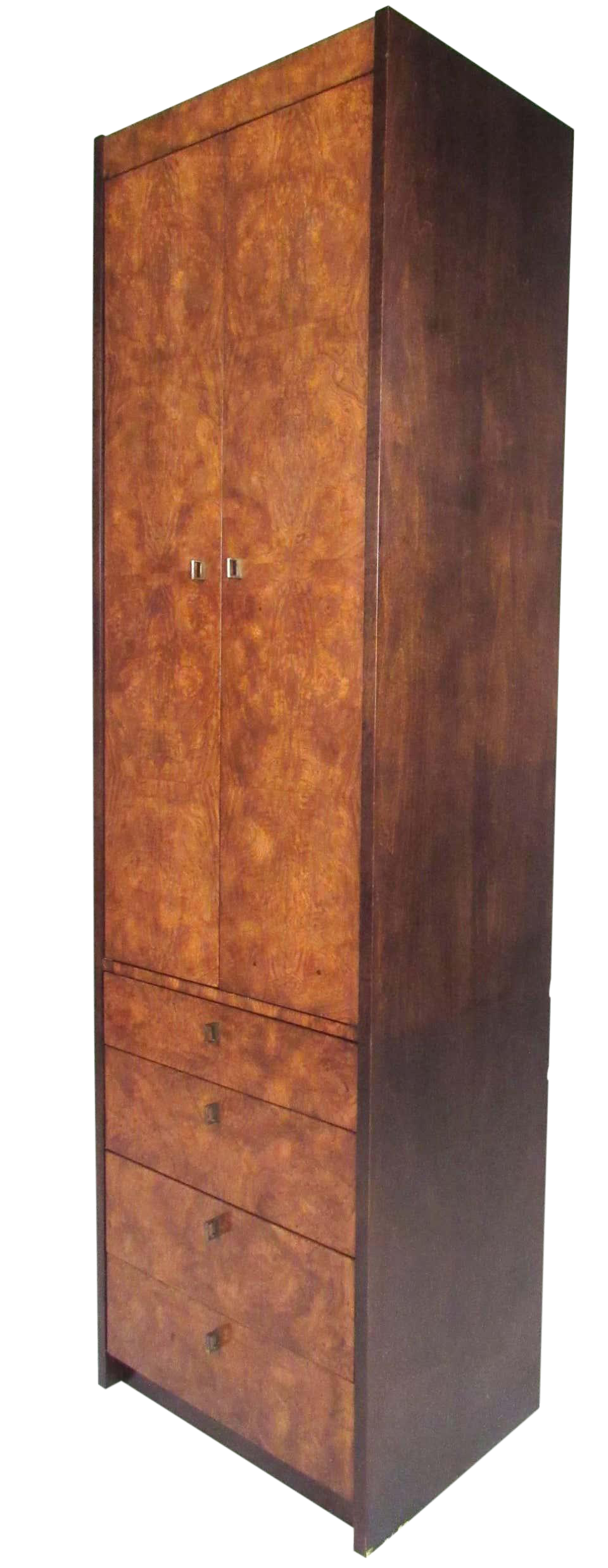 Picture of: Mid Century Burl Wood Linen Cabinet By Century Furniture Chairish