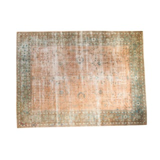 "Distressed Sarouk Design Carpet - 8'8"" x 11'8"""