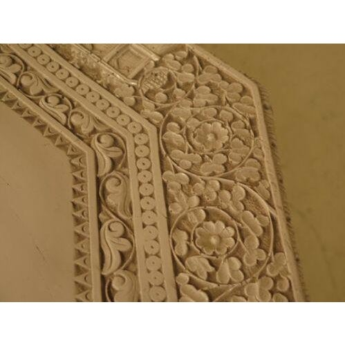 1950s 1950s Chinese Highly Carved Detailed White Painted Occasional Table For Sale - Image 5 of 9
