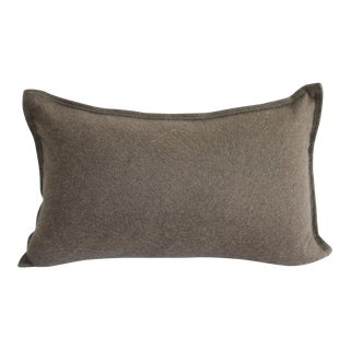 Cashmere Lumbar Pillow in Cocoa For Sale