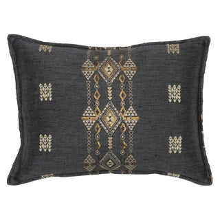 Boho Chic Berber Pyrite Slate Pillow For Sale
