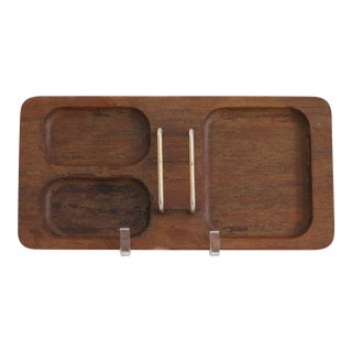 Mission Walnut Desk Tray For Sale