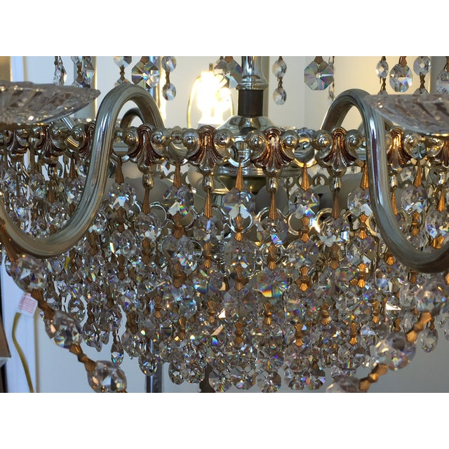 Crystal Schonbek Swarovski Strass Crystal Chandelier For Sale - Image 7 of 7